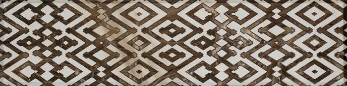 Brown Geometric 30x120